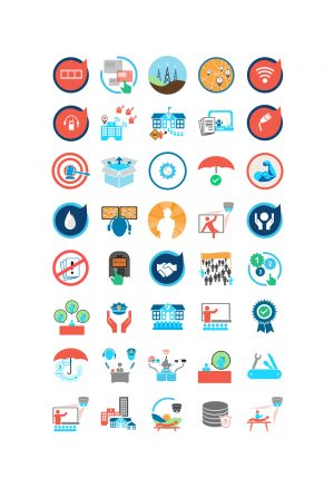 Baycom Inc. Website Content Icons Set #1